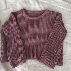 Solid Stand Collar Sweater